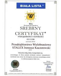 Srebrny Certyfikat wiarygodności i rzetelności - zdjęcie