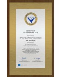 Certyfikat Złoty Płatnik 2015 - zdjęcie