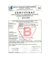 Certyfikat dla odłącznika akumulatora w-40 - zdjęcie
