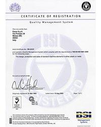 Certyfikat BS EN ISO 9001:2000 - zdjęcie