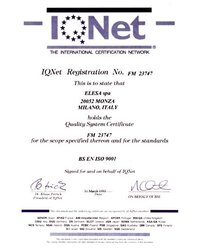 Certyfikat BS EN ISO 9001 - zdjęcie