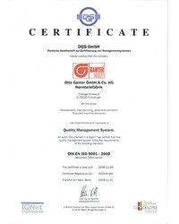 Certyfikat DIN EN ISO 9001:2000 - zdjęcie