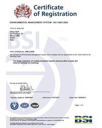 Certyfikat ISO 14001:2004 - zdjęcie