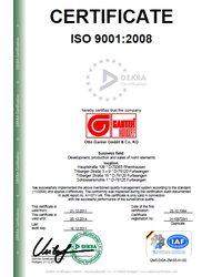 Certyfikat ISO 9001:2008 (Dekra Certification) - zdjęcie