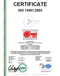 Certyfikat ISO 14001:2004 (Dekra Certification) - zdjęcie