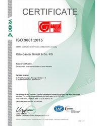 Certyfikat Systemu Zarządzania Jakością ISO 9001:2015 - Otto Ganter GmbH & Co. KG - zdjęcie