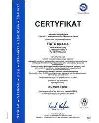 Certyfikat ISO 9001: 2000 - zdjęcie