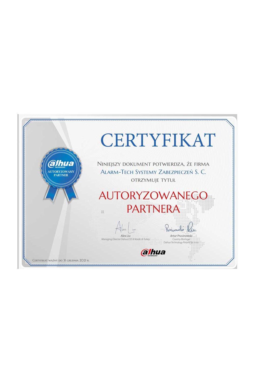 Certyfikat Dahua - zdjęcie