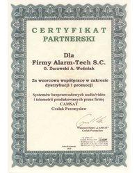 Certyfikat partnerski CAMSAT - zdjęcie