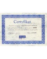 Certyfikat przedstawiciela handlowego TELMOS SSWiN - zdjęcie