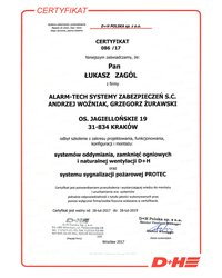 Certyfikat D+H POLSKA sp. z .o.o. - zdjęcie