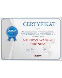 Certyfikat Autoryzowany Partner alhua - zdjęcie