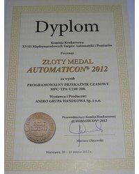 Złoty Medal dla ANIRO za programowalny przekaźnik czasowy - zdjęcie