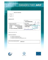 Świadectwo AEO (status upoważnionego przedsiębiorcy) - zdjęcie