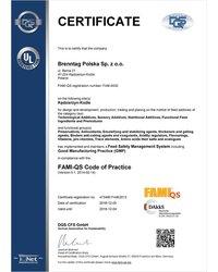 Certyfikat FAMI-QS - zdjęcie