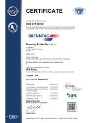 Certyfikat IFS - zdjęcie