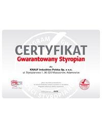 Certyfikat Gwarantowany Styropian - zdjęcie