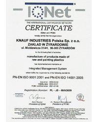Certyfikat PN-EN ISO 9001:2001 i PN-EN ISO 14001:2005 - zdjęcie