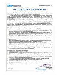 Polityka Zintegrowanego Systemu  Zarządzania Jakością i Środowiskiem - zdjęcie