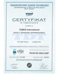 TDT ISO 9001 Tubes International - zdjęcie