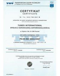 TDT ISO 3834 Tubes International - zdjęcie