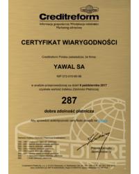 Certyfikat wiarygodności - zdjęcie
