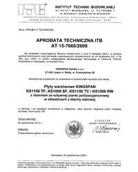 Aprobata techniczna na płyty warstwowe KINGSPAN KS1150 TF, KS1000 SF, KS1150 TC i KS1000RW - zdjęcie