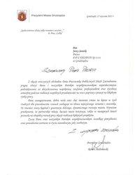 Podziękowania od Prezydenta Miasta Grudziądza - zdjęcie