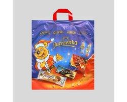 Polietylenowa torba reklamowa z folii LDPE, MDPE z taśmowym uchwytem zewnętrznym - zdjęcie