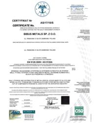Certyfikat AS 9120 - zdjęcie