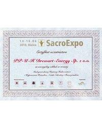 Certyfikat uczestnictwa (SacroExpo 2010) - zdjęcie