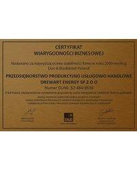 Certyfikat Wiarygodności Biznesowej w roku 2009 (Dun & Bradstreet Poland) - zdjęcie