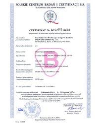 Certyfikat Solart Standard - zdjęcie
