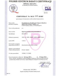 Certyfikat Solart M - zdjęcie
