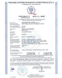Certyfikat Solart-WEG medic - zdjęcie