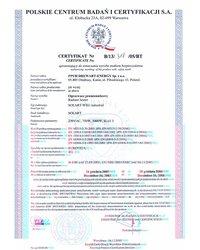 Certyfikat Solart-WEG industrial - zdjęcie