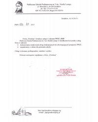 Referencje Publicznej Szkoły Podstawowej nr 3 w Grodkowie - zdjęcie