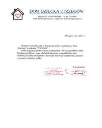 Referencje Domu Dziecka w Strzegowie - zdjęcie