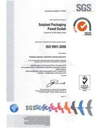 Certyfikat ISO PN-EN 9001:2009 - zdjęcie