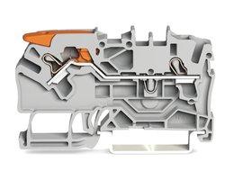 Złączka przelotowa 2-przewodowa z dźwignią i Push-in CAGE CLAMP® - zdjęcie
