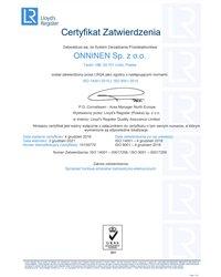 Certyfikat ISO 14001:2015 I ISO 9001:2015 - zdjęcie