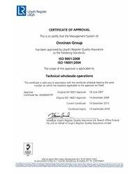 Certyfikat 9001 i 14001 - zdjęcie