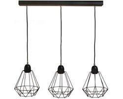 Lampa loft 3pł. na linkach Olsen 0846 - zdjęcie