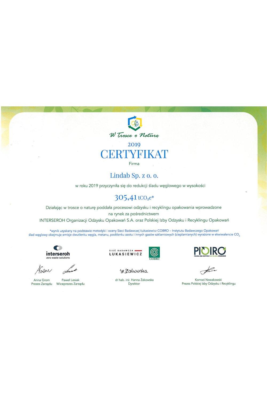Certyfikat W Trosce o Naturę - zdjęcie