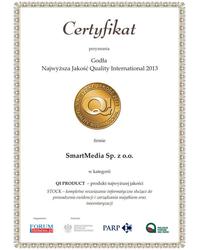 Godło Najwyższa Jakość Quality International 2013  - zdjęcie