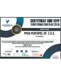 Certyfikat CIRF EFFP - zdjęcie
