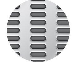 Blachy perforowane: otwory wydłużone przetłoczone układ prosty - zdjęcie