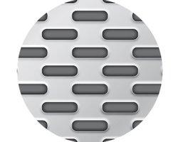 Blachy perforowane: otwory wydłużone przetłoczone układ mijany - zdjęcie