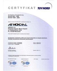 Certyfikat EN ISO 9001:2008, EN ISO 14001:2004 (2009) - zdjęcie