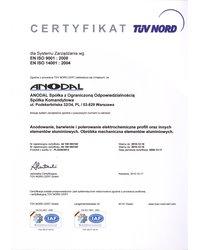 Certyfikat EN ISO 9001:2008, EN ISO 14001:2004 (2012) - zdjęcie